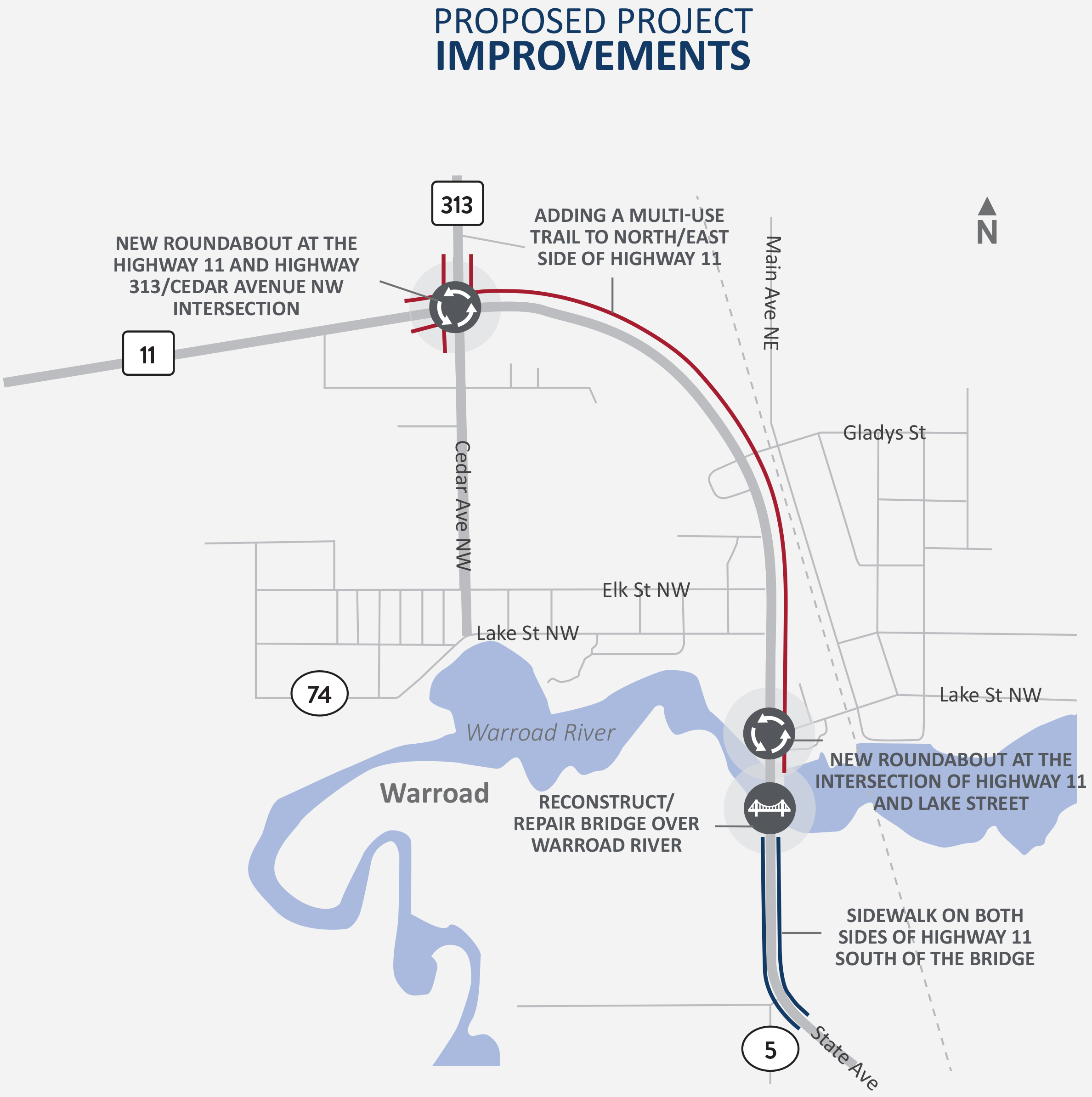 Highway 11 project map