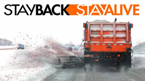 Snow plow - STAY BACK STAY ALIVE