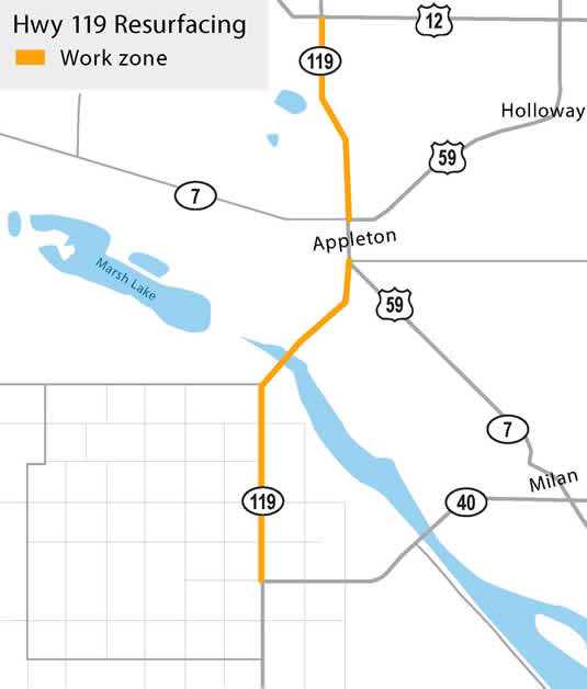 Hwy 119 project limits