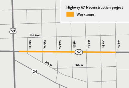 Hwy 67 project map