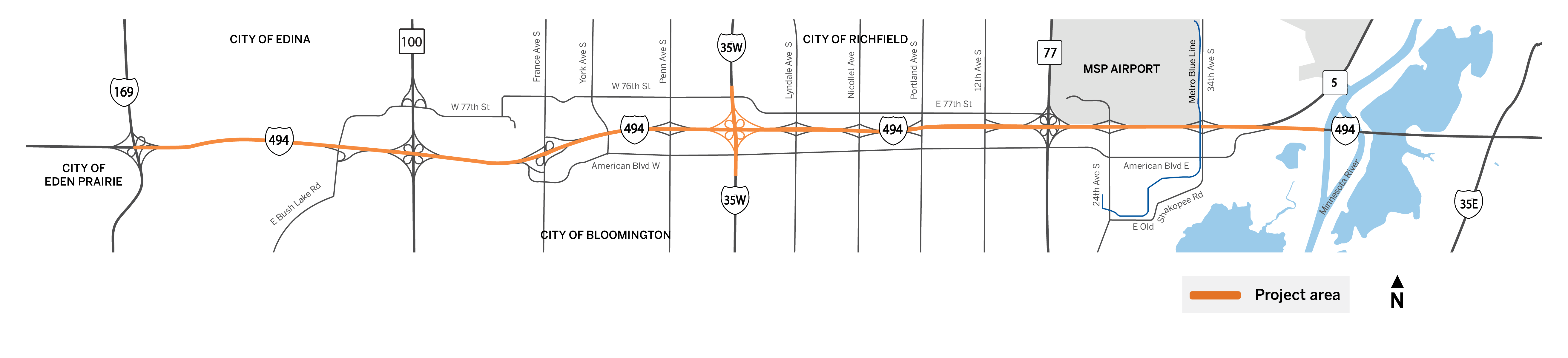 Metro Wide Overhead Signing Project locations map