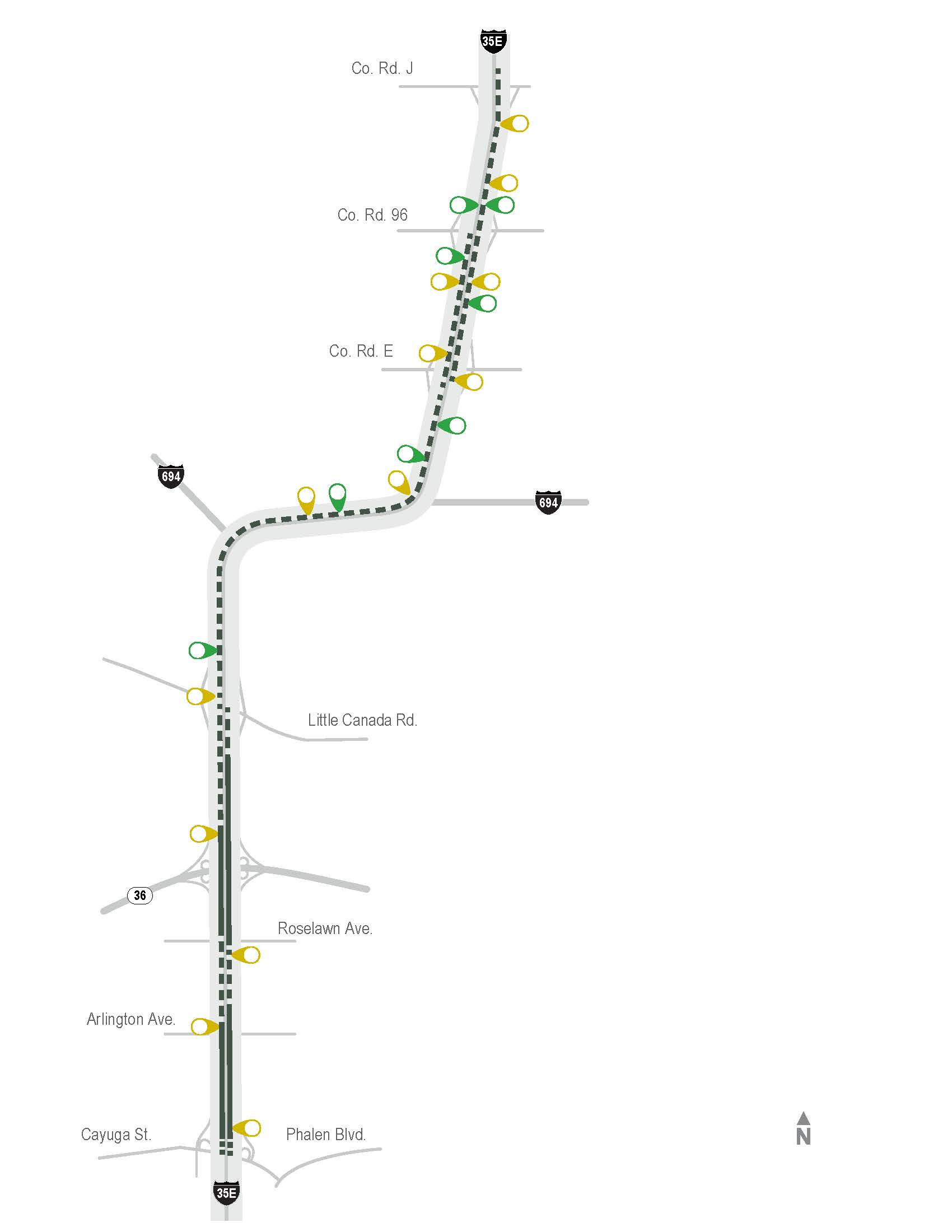 I-394 MnpASS Express Lane Map