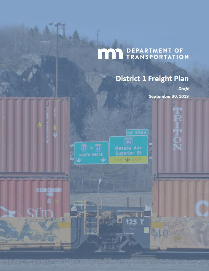 District 1 Freight plan cover page