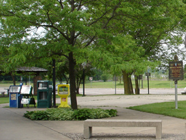 image of forest lake rest area
