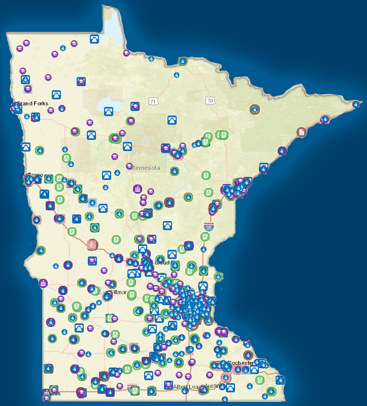 MnDOT Safe Routes to School visualization map