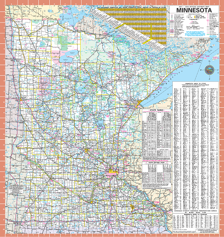 2017-2018 Minnesota State Highway Map