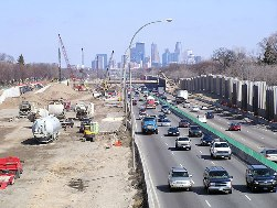 The Crosstown Reconstruction Project, completed in 2010, heavily influenced AADT on I-35W and nearby roads.