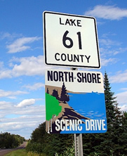 County road signage in northeastern Minnesota
