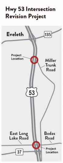 A rendering of the Hwy 53 intersection improvements project.